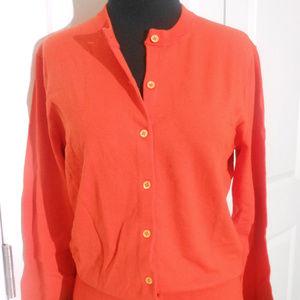 J CREW Cotton Jackie Cardigan Sweater M NWT Zinnia